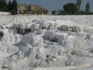 View over the natural wonder Pamuk Kale, near the city of Dinizli